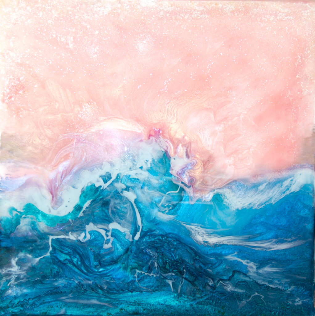 Kathryn Silvera, Wave, A Tribute, 2017, Resin, 24x24 inches, $655