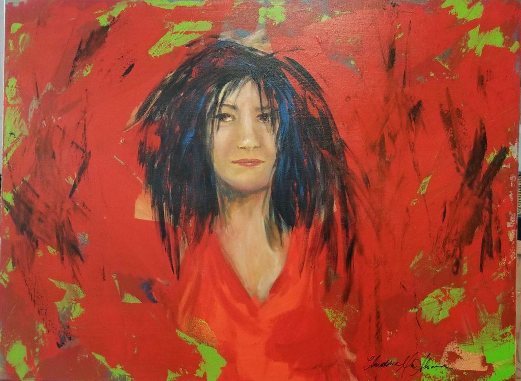"Christine Mac Shane, Emergence, 2018, Acrylic on Canvas, 30""x 40"", $1800"