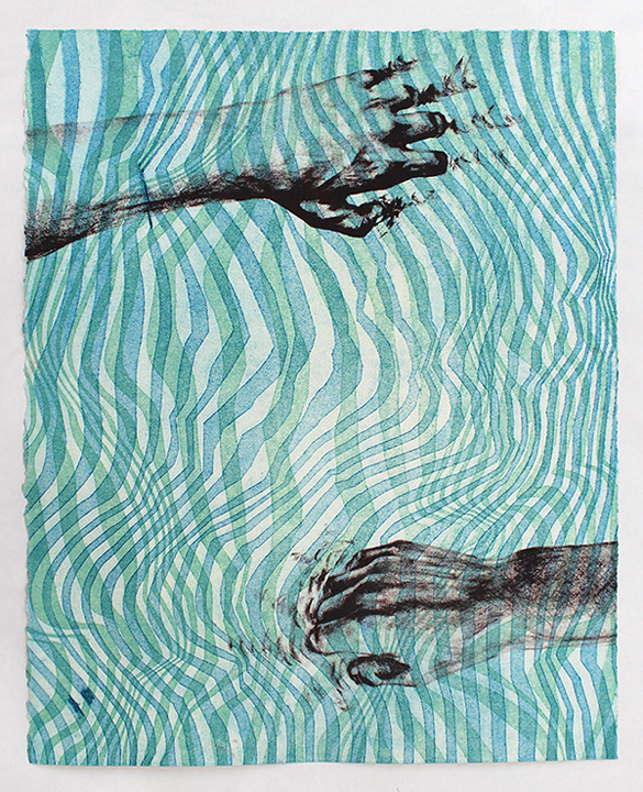 Amanda Kralovic, The ability to cause change, 2019, collagraph and photolithography, 16x20