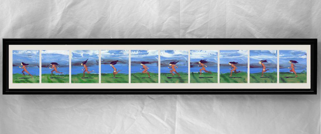 """Rick Vertolli, """"Running Loop"""", 2018, Oil Paint, 9x51"""""""
